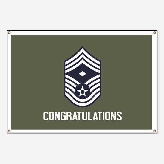 USAF CMSgt - Congratulations (Green) Banner