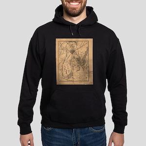 Vintage Map of The Gettysburg Battlefie Sweatshirt