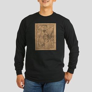 Vintage Map of The Gettysburg Long Sleeve T-Shirt