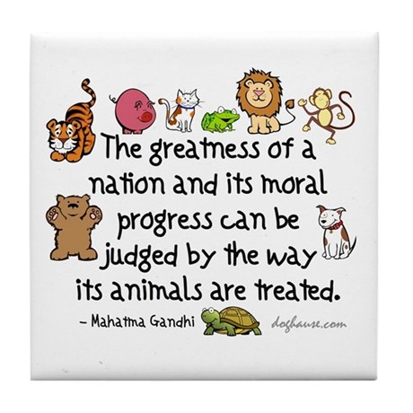 Greatness Of A Nation Tile Coaster