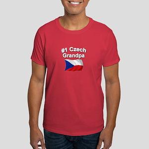 #1 Czech Grandpa Dark T-Shirt