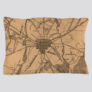 Vintage Map of The Gettysburg Battlefi Pillow Case