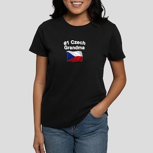 #1 Czech Grandma Women's Dark T-Shirt