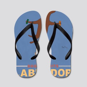 Biscuits Labrador - Chocolate Lab Flip Flops