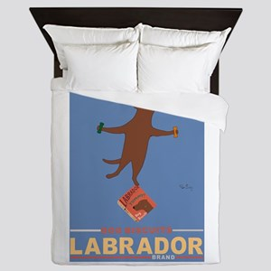 Biscuits Labrador - Chocolate Lab Queen Duvet