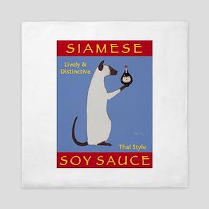 Siamese Soy Sauce Queen Duvet