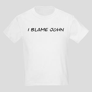 I Blame John Kids Light T-Shirt