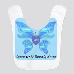 I love someone with Down Syndro Polyester Baby Bib
