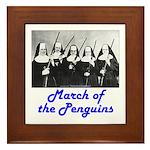 March of the Penguins Framed Tile