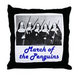March of the Penguins Throw Pillow