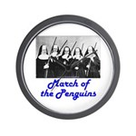 March of the Penguins Wall Clock