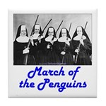 March of the Penguins Tile Coaster