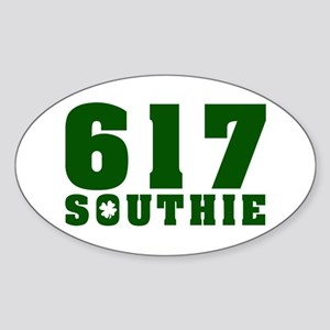 617 Southie, South Boston Oval Sticker
