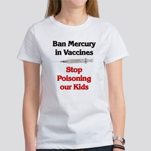 Ban Mercury in Vaccines Women's T-Shirt