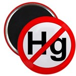 """No Hg"" Mercury - Autism 2.25"" Magnet (100 pack)"