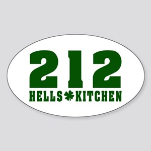 212 Hells Kitchen New York Oval Sticker