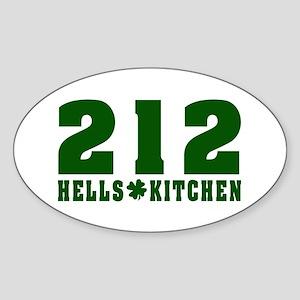 212 Hells Kitchen New York Oval Sticker