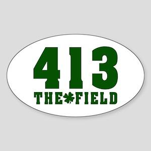 413 The Field Springfield, Massachusetts Sticker (