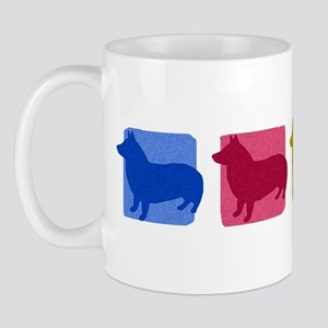 Color Row Swedish Vallhund Mug