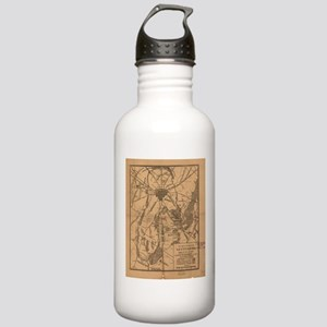 Vintage Map of The Get Stainless Water Bottle 1.0L