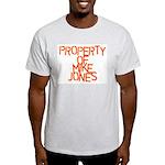 PROPERTY OF MIKE JONES Ash Grey T-Shirt