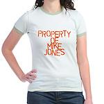 PROPERTY OF MIKE JONES Jr. Ringer T-Shirt