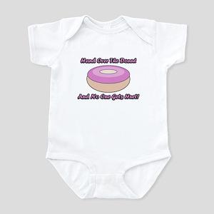 Pink Frosting Donut Saying Infant Bodysuit