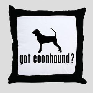 got coonhound? Throw Pillow