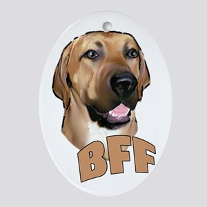 bff blackmouth cur Oval Ornament
