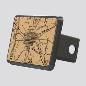 Vintage Map of The Gettysb Rectangular Hitch Cover