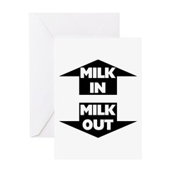 Milk In Milk Out Greeting Card