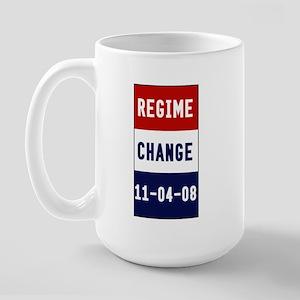 Regime Change (red, white, &  Large Mug