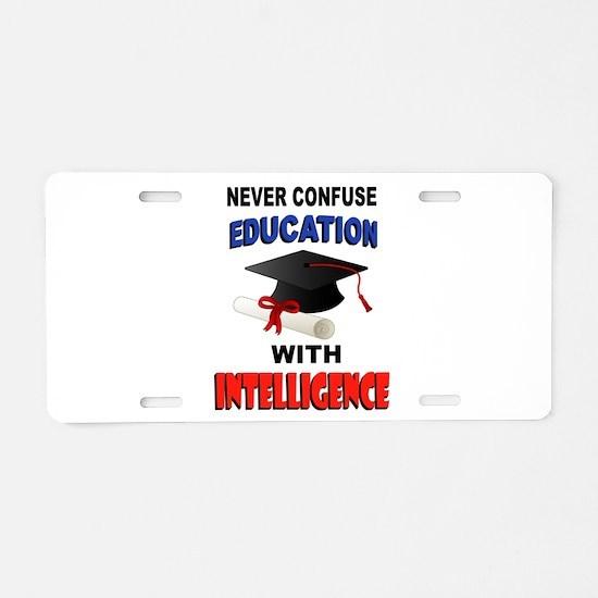 EDUCATION Aluminum License Plate