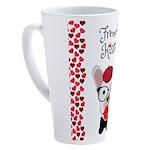 Frenchie Kissing 17 oz Latte Mug
