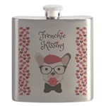 Frenchie Kissing Flask
