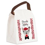 Frenchie Kissing Canvas Lunch Bag