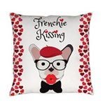 Frenchie Kissing Everyday Pillow