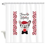 Frenchie Kissing Shower Curtain