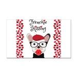 Frenchie Kissing Rectangle Car Magnet