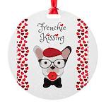 Frenchie Kissing Ornament