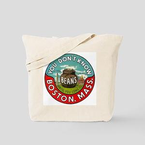 Boston Massachusetts Beans Tote Bag