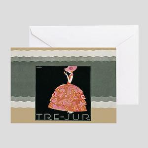 Tre Jur Perfume Advertisement Greeting Card
