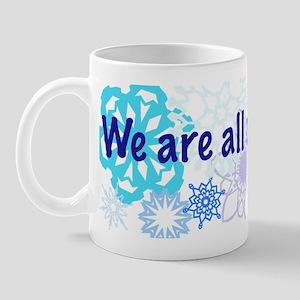 Snowflakes Collage Mug