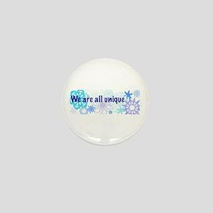 Snowflakes Collage Mini Button