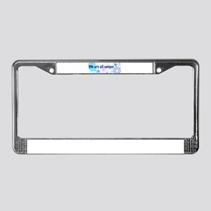 Snowflakes Collage License Plate Frame