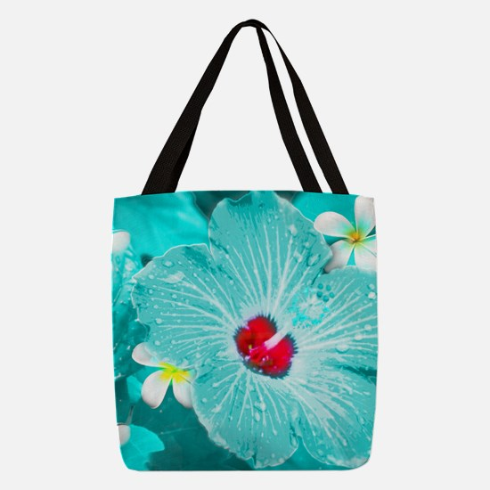 Blue Hawaii Polyester Tote Bag
