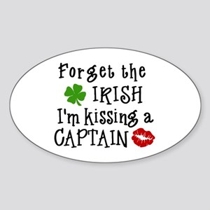 Kissing a Captain Oval Sticker