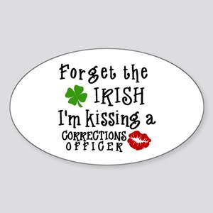 Kiss Corrections Officer Oval Sticker