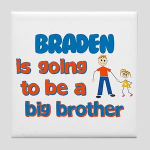 Braden - Going to be Big Brot Tile Coaster