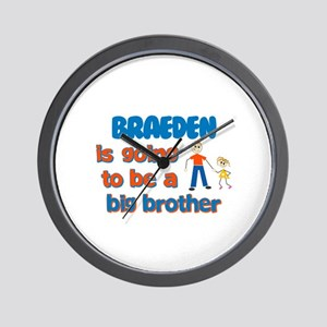 Braeden - Going to be Big Bro Wall Clock